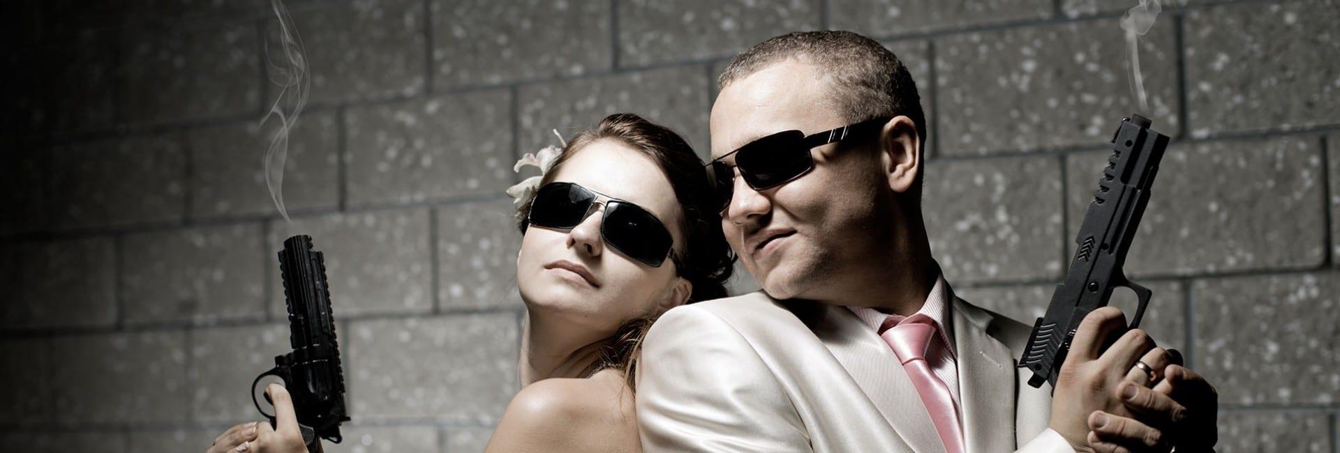shotgun wedding couple