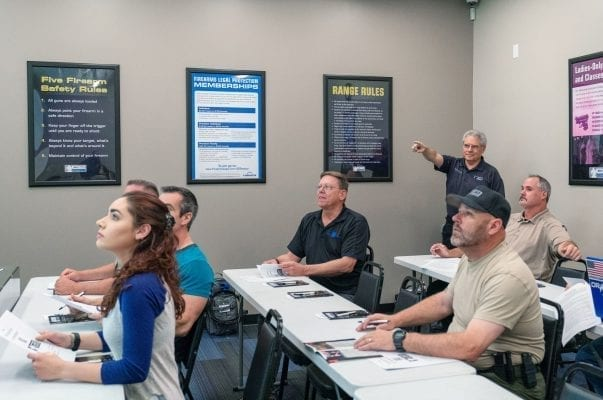 A group of people in a personal protection class