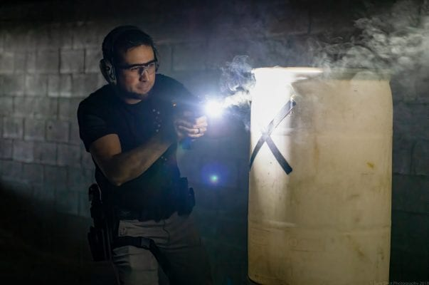 Low Light Pistol Training